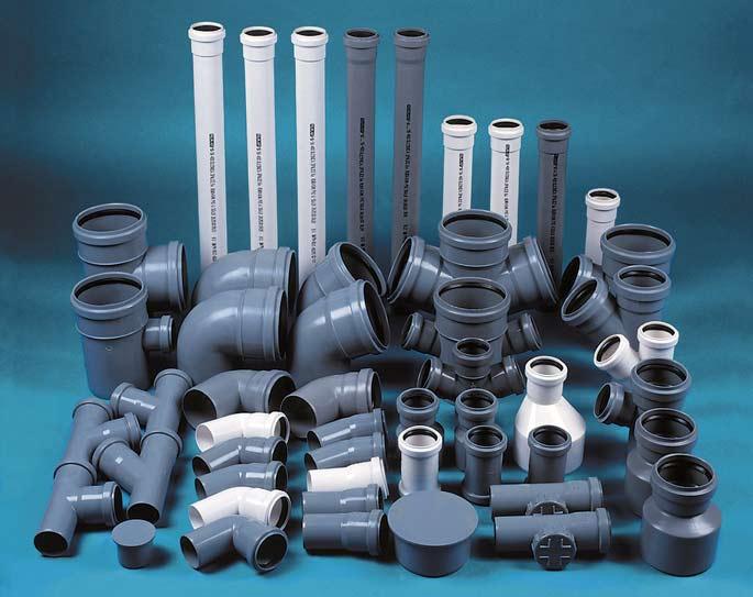 Пластиковые трубы с фурнитурой