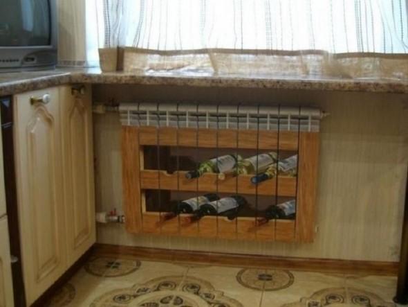 Декор радиатора в квартире