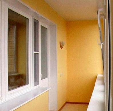 Оштукатуренный балкон