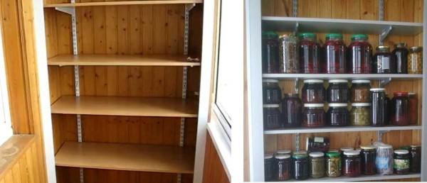 торговый стеллаж для балконного шкафа