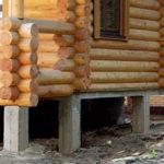 Фундамент для дома из бруса – варианты закладки