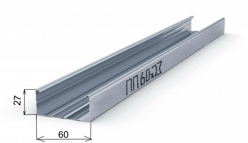 Потолочный CD профиль 60х27 мм