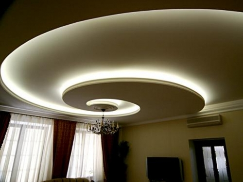 Сложный комбинированный потолок