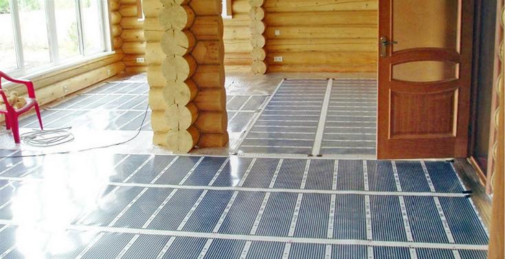Пленочный инфракрасный пол для деревянного дома считается одним из лучших вариантов