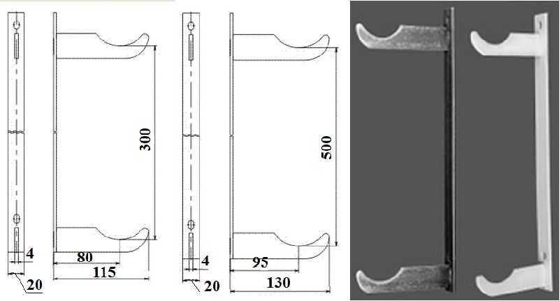 Спаренный кронштейн с фиксированным расстоянием между крюками