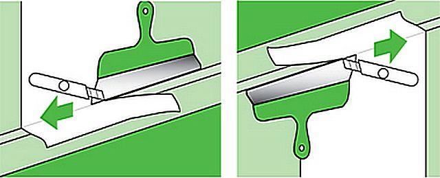 Как обрезать обои под потолочный плинтус своими руками