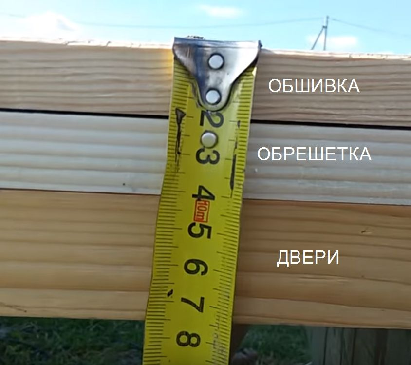 Замер толщины дверей после утепления и обшивки