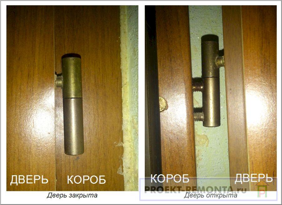 Установка ввертной петли на межкомнатных дверях с наплывом