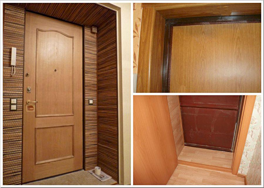 Отделка откосов входной двери – 3 гарантировано рабочих способа обустройства