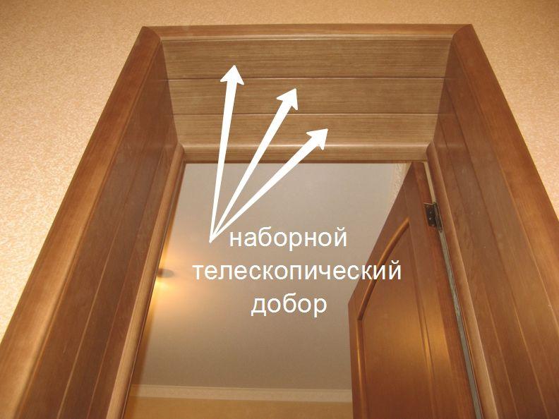 Наборной телескопический добор на глубокий дверной проем