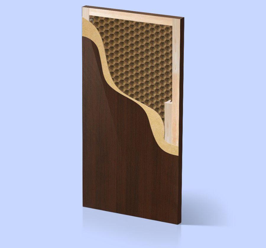 Дверной короб с наполнителем из сотового картона