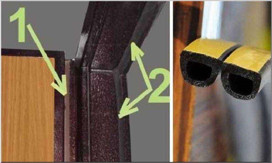 Как монтируется дверной уплотнитель
