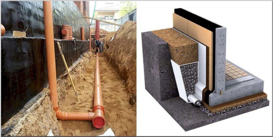 Гидроизоляция подземной части дома
