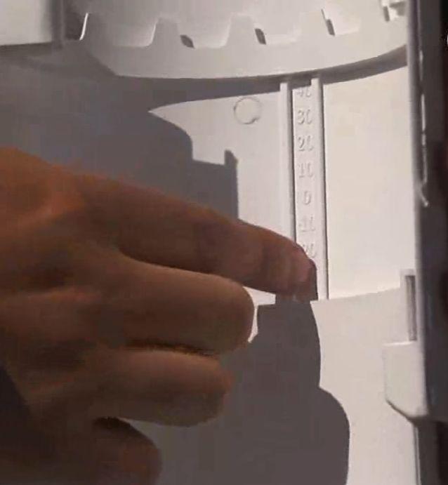 Компенсирующий пластиковый узел с температурной шкалой