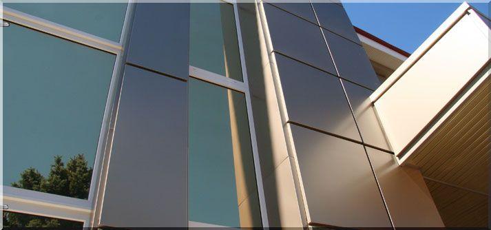 Вентилируемый фасад из алюминия