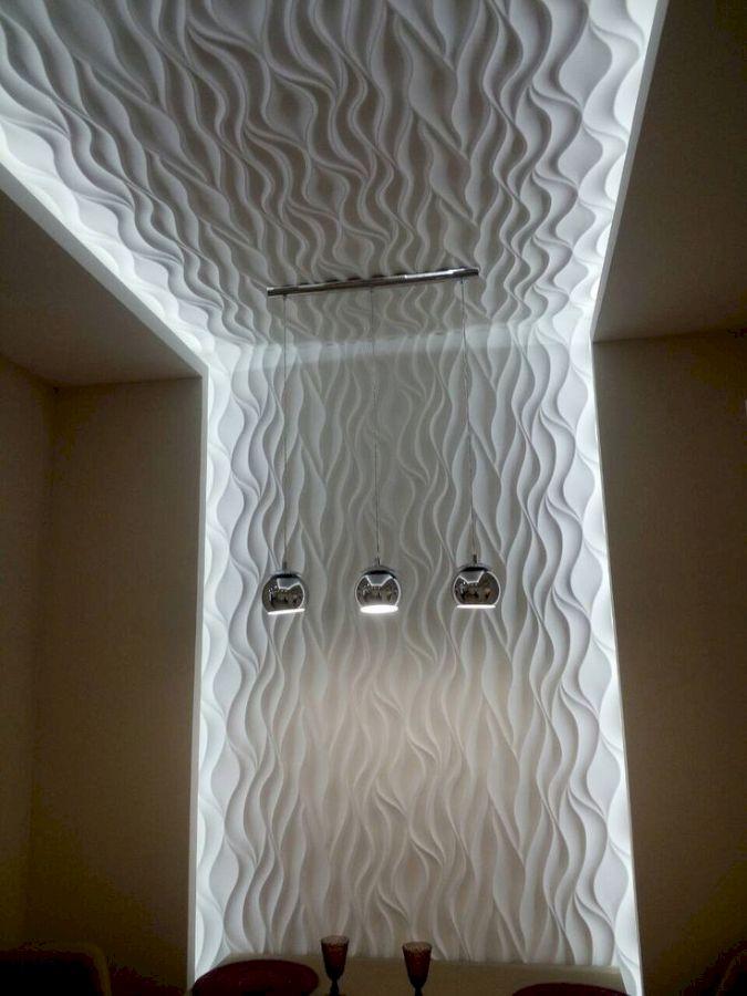 МДФ с 3D эффектом на потолке