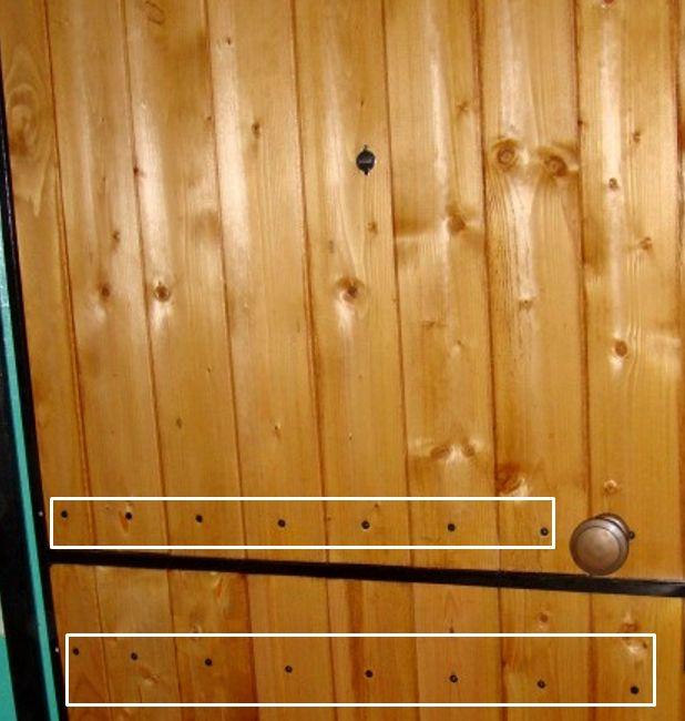 Обшивка двери без утепления