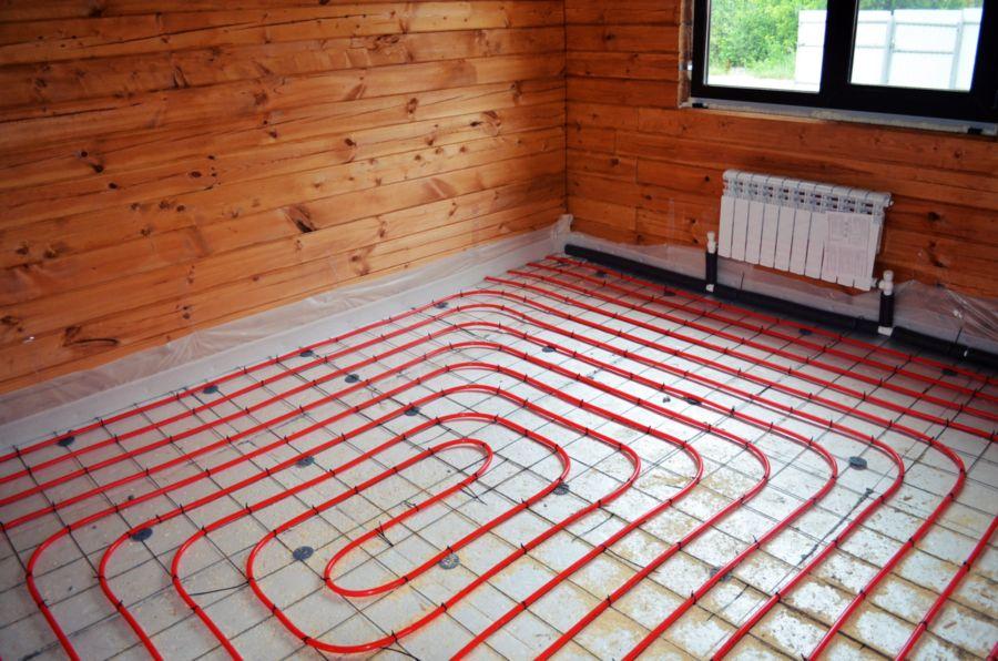 Жидкостный тёплый пол в деревянном доме