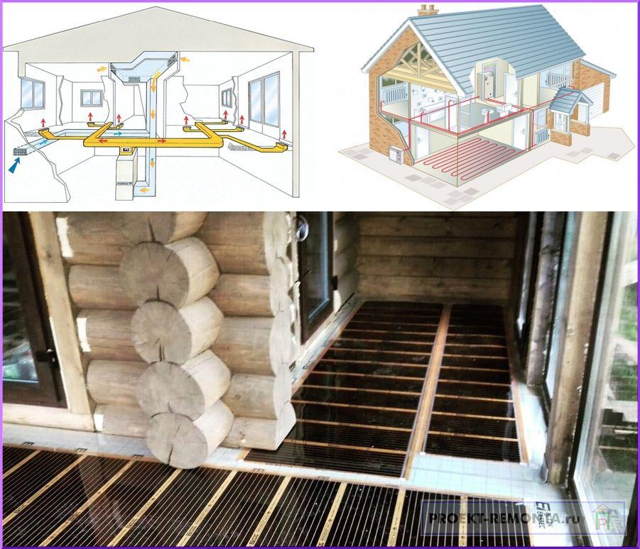 Принципы отопления строений
