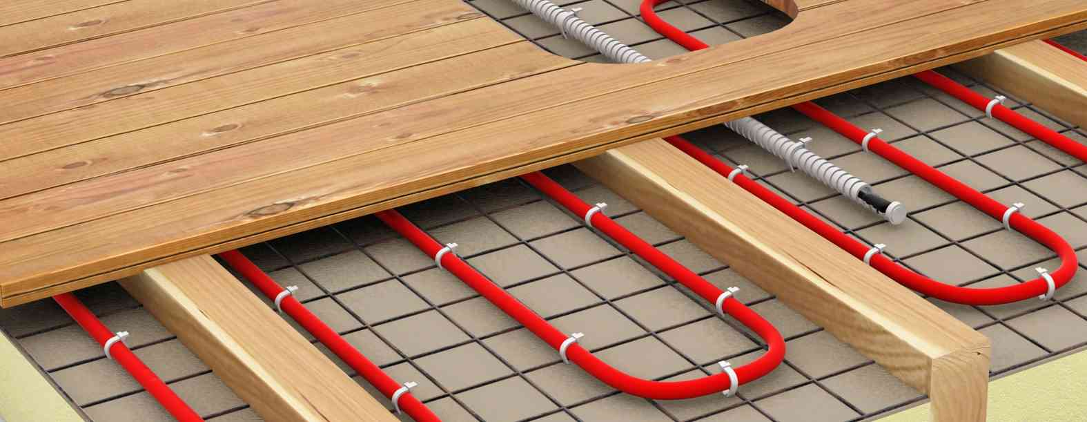 Теплые полы с деревянном доме схема