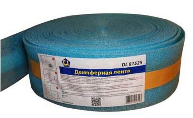 Демпферная лента компенсирует тепловые колебания бетонной плиты