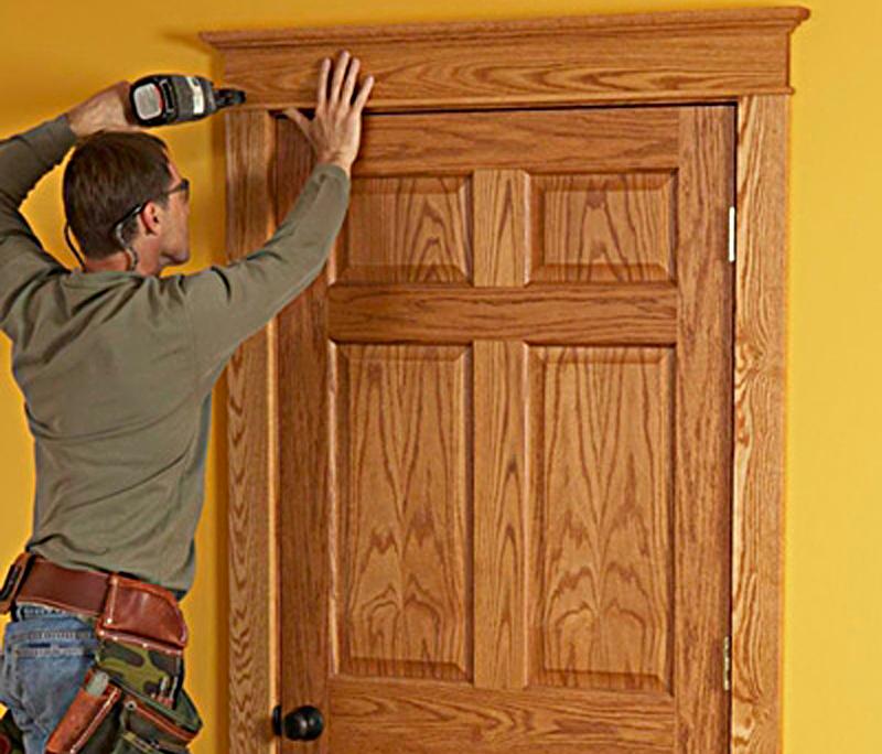 Обналичка входных дверей своими руками 98