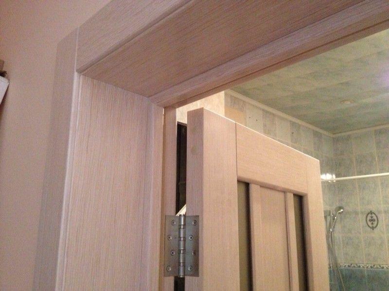 Доборы на межкомнатные двери в ванной комнате