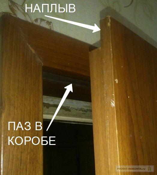 Двери с наплывом