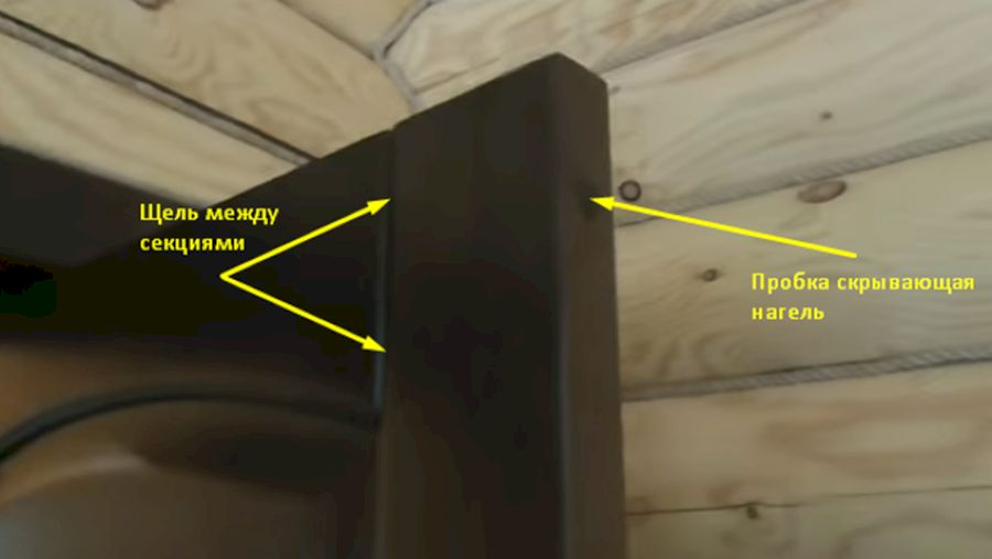 Точки фиксации филенчатой деревянной двери