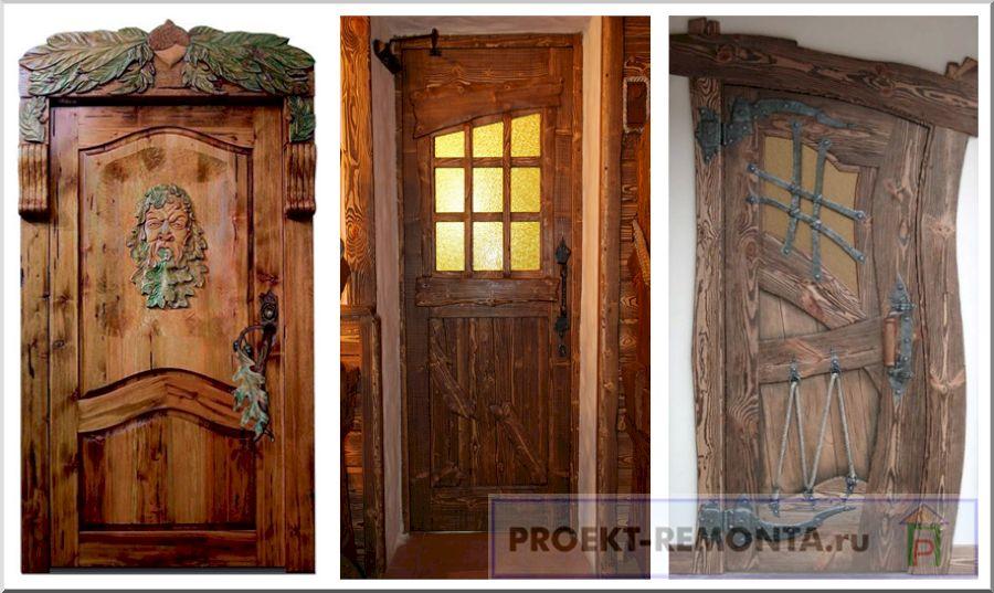 Антикварные деревянные двери