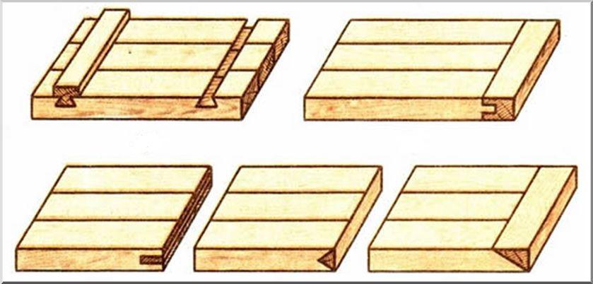 Как стянуть планками деревянный щит