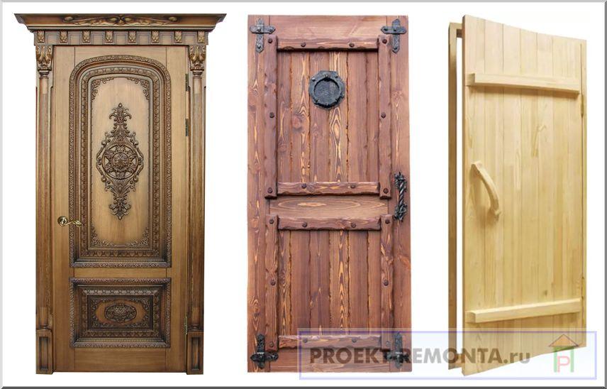 Дверные полотна из дерева для разных помещений