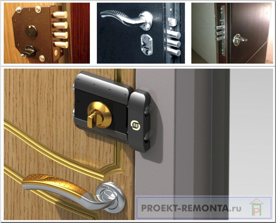 Накладные и врезные замки на металлическую дверь
