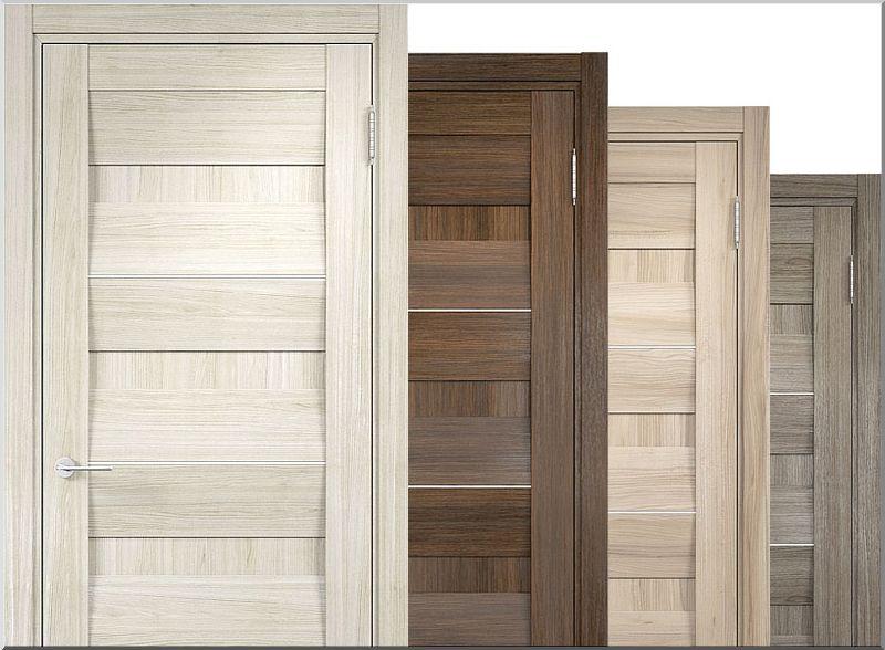 Как выглядят двери облицованные экошпоном