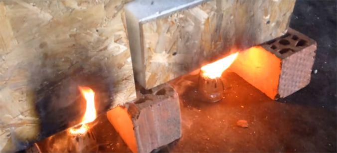 Попытка зажечь каркасную панель