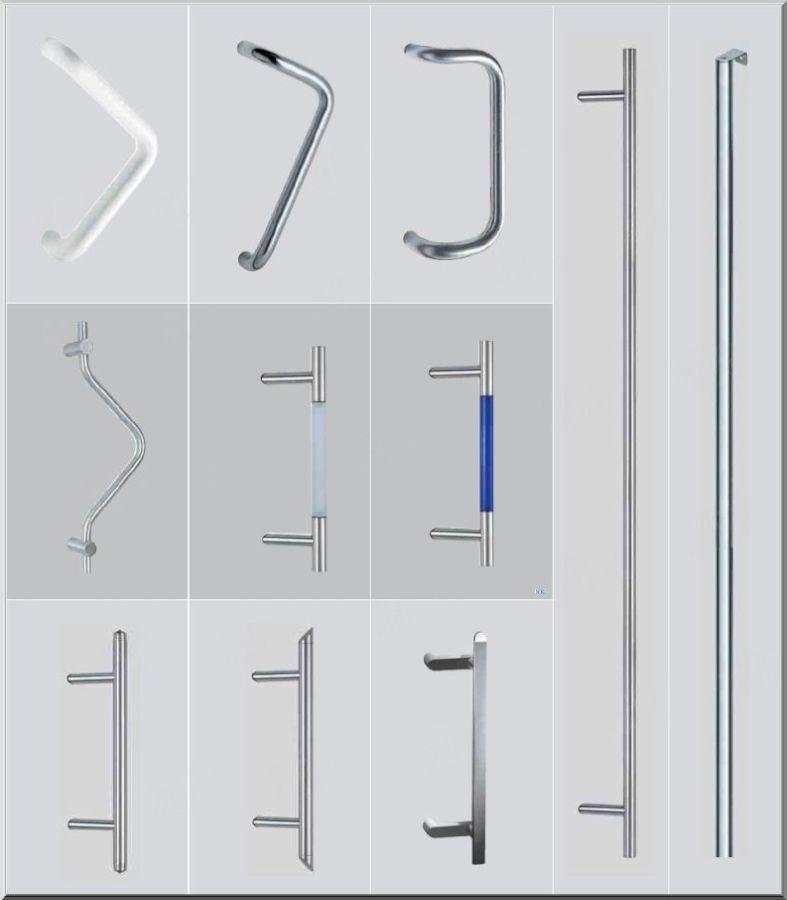 Внешняя ручка скоба для пластиковой двери