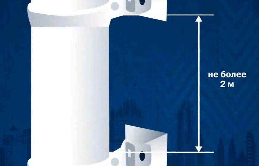 Как закрепить водосточную трубу