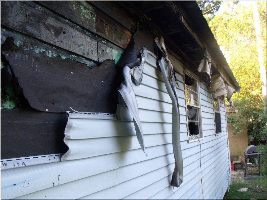 ПВХ сайдинг после пожара