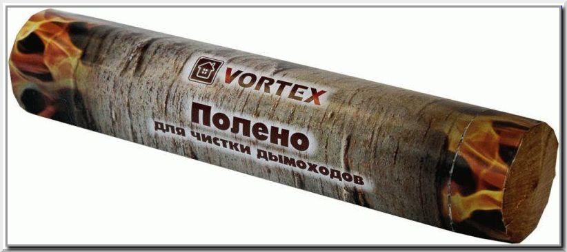 Чистка дымохода поленом Vortex