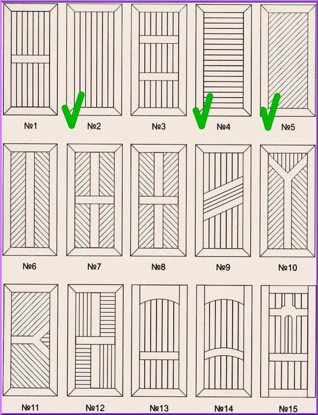 Варианты облицовки дверей вагонкой